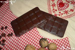 Tablette de chocolat automnale