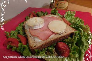 Salade de toast aux deux fromages et bacon
