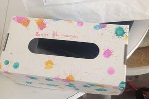 Boîte à mouchoirs pour maman