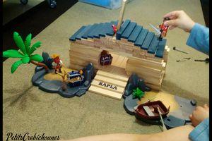 Manipulation : Maison de pirates avec Kapla. Test, avis.