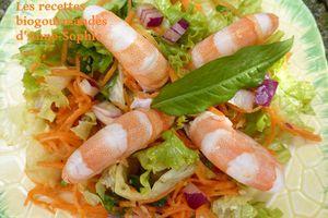 LA SALADE DE BRUNO : Sauce asiatique gingembre, coriandre et oignon rouge