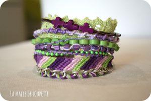 Brazalete verde y violeta!