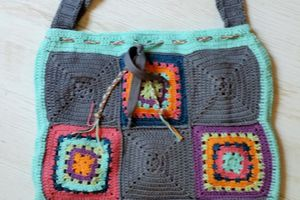 GRAND SAC CABAS REALISE AU CROCHET