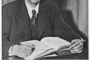 Portrait of der Fuehrer der Sudetendeutschen Konrad Henlein