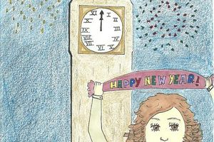 Happy New Year, an illustration by Charlotte !