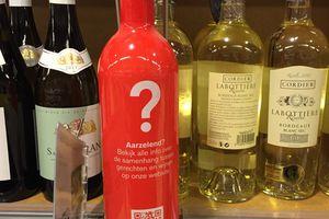 La bouteille ILV QR CODE de Delhaize  ... Digibottle