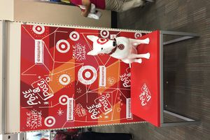 NYC 1 : Photo booth avec Bullseye la mascotte de TARGET