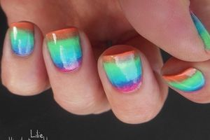 Nail Art Gradient façon water marble // Vernis Labell Paris - Brazilian Mambo