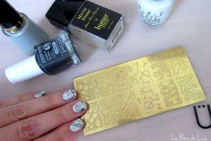 Marbre Nail Art - Pet'la Plate