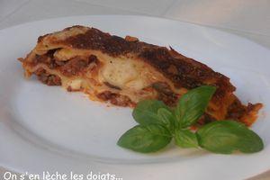 Recette de lasagnes à la bolognaise comme je l'ai apprise!!!
