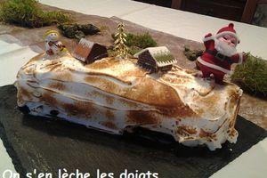 Bûche de Noel façon tarte au citron meringuée