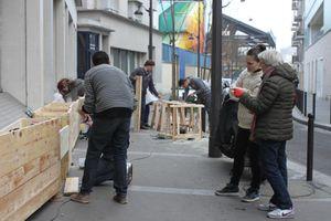 Mercredi 21 décembre 2016 : dernière phase de végétalisation rue Romy Schneider