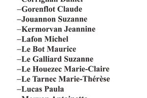 """Liste de candidatures collège """"Résidents"""""""