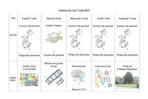 Planning semaine 32