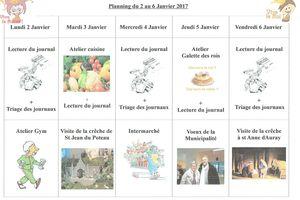 Planning semaine 1