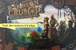 Petit meeple bleu : Aventures sur l'île maudite