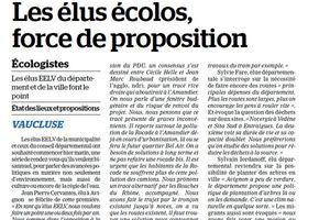 Conférence de presse des élus EELV d'Avignon