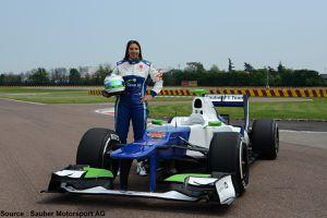 Simona de Silvestro couvre 112 tours pour Sauber
