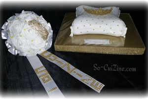 Cushion with Tiara Cake