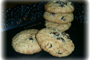 Cookies light aux flocons d'avoine et raisins sec
