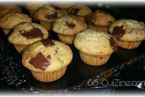 Muffins aux chunks de chocolat