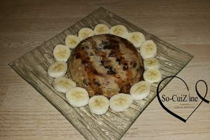 Bowl cake banane-raisin