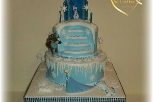 Cake design Frozen with Scrapcooking