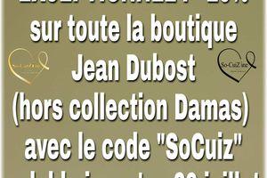 Code promo sur la boutique Jean Dubost