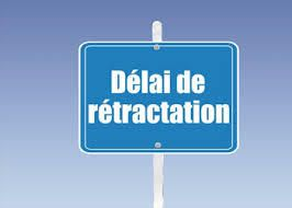 DROIT DE RETRACTATION...