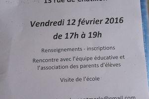 Ecole Saint-Joseph:Portes Ouvertes Vendredi 12 Février