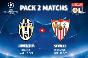 Ligue Des Champions:Pack Juve+Séville Moins 10 %
