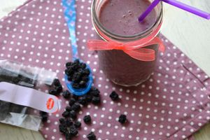 Smoothie antioxydant {myrtilles et baies d'aronia}
