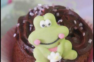 Cupcake  au chocolat  ganache chocolat