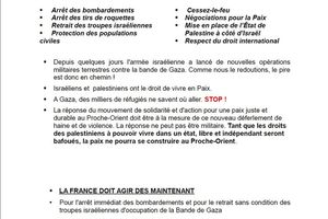Mouvement de la Paix de la Corrèze : appel au rassemblement de Brive le 26 juillet 2014, 15H00, place Winston Churchill
