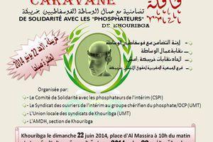 Maroc : grève et lutte des phosphateurs de l'intérim/CSPI