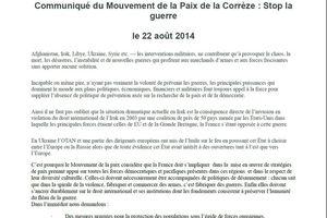 Mouvement de la paix de Corrèze : Stop la Guerre