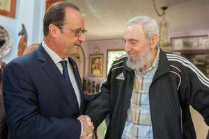 Le président français a rendu visite à Fidel