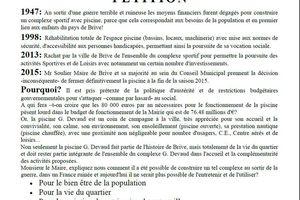 PCF Brive: pétition contre la fermeture de la piscine G. Devaud