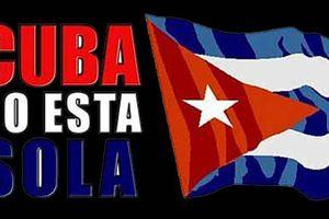Manifestation de Colombiens pour la fin du blocus contre Cuba