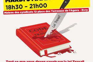 Loi Travail: Meeting unitaire en Essonne le 03 mai