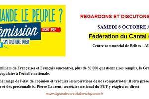 PCF Cantal : Invitation Samedi 8 Octobre