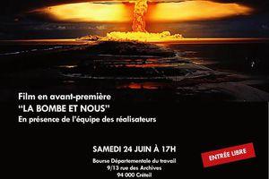 Avant-première du film « La bombe et nous »