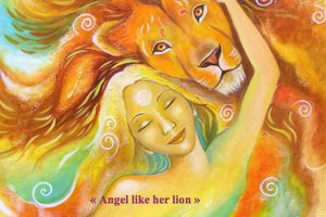 Angel like her lion