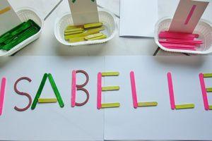 Alphabet coloré chez Monique