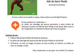 Sac à album Niki de Saint Phalle chez Pierrick