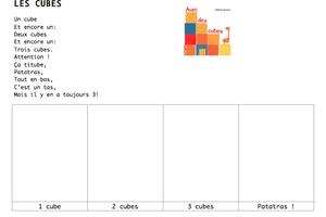 Activités avec des cubes en MS chez Clairouille