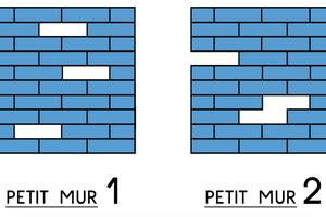 Petits et grands murs Légos à réparer chez Krol