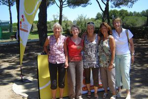 Les championnes de l'AS Caissargues Tennis