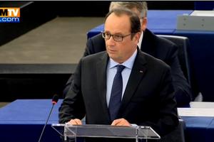 """Vive passe d'armes entre Marine Le Pen et François Hollande, traité de """"vice-chancelier"""" d'Angela Merkel"""