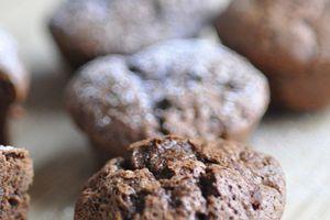Mini moelleux muffins au chocolat sans gluten